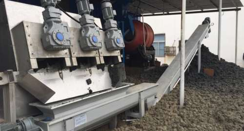 Screw Type Sludge Dewatering Press